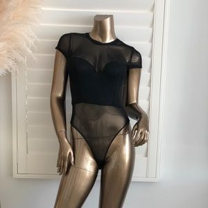 Triggered With You Lace Bodysuit - Black